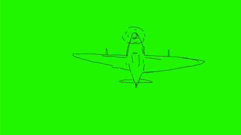 World War 2 Fighter Plane Flying Drawing 2D Animation Animation