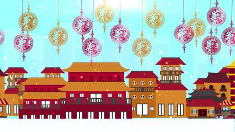 Chinese New Year background Animation