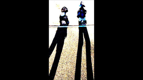 Slow Motion Two Persons's Silhouette ライブ動画
