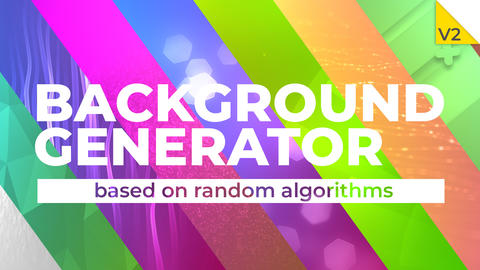 Background generator After Effects Template