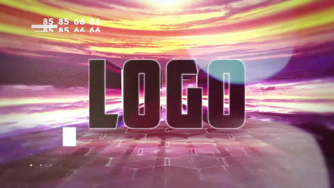 Glitch Landscape Logo After Effects Template