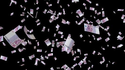 Euro bill falling loop GIF