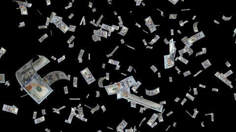 Dollar bill falling loop GIF