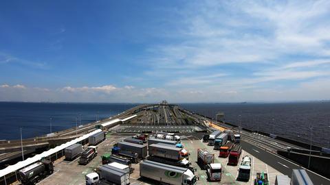 Japan tourist parking area, timelapse video ライブ動画