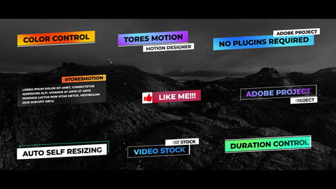 Lower Thirds Auto Self Resizing After Effects Template