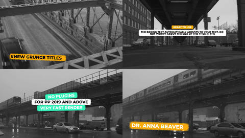 Grunge Titles & Lower Thirds Auto Scale Motion Graphics Template