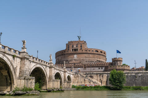 View Of Rome on the St Angelo Bridge and Castle Photo