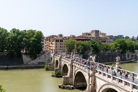 View Of Rome with St Angelo Bridge on the Tiber river Photo