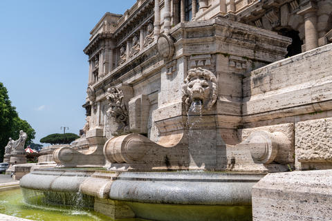 Fountain near the Palace of Justice in Rome Photo