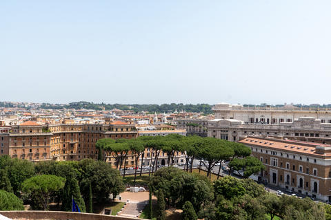 Panoramic view over the historic center of Rome Photo