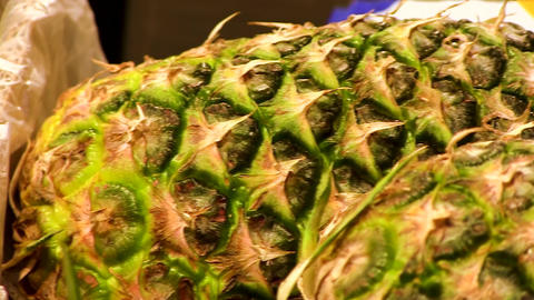 Pineapples in the supermarket Live Action