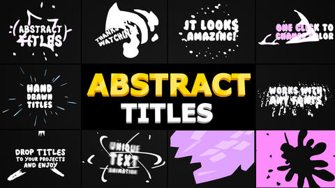 Abstract Cartoon Titles Motion Graphics Template