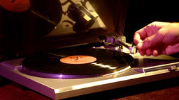 Gramophone. Retro Turntable Vinyl Records.