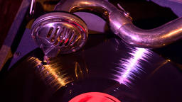 Gramophone. Retro Turntable Vinyl Records. 1