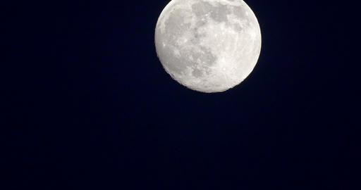 Timelapse Of Moon On Dark Night Sky Footage