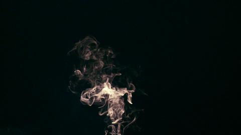 Cigarette Snoke on Black Footage