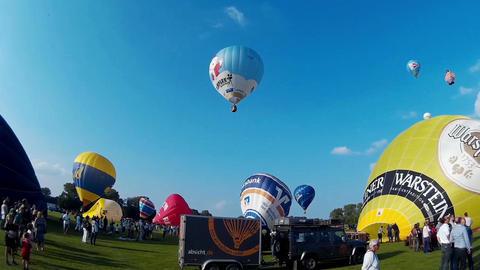 International Balloon Sail in Kiel, Germany Footage