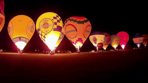 Glowing Hot Air Balloons Footage