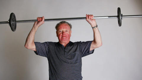 Senior lifting weighting Footage