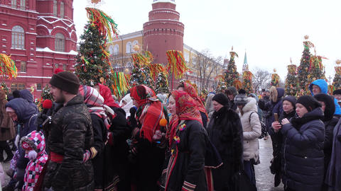 Folk holiday Maslenitsa Footage