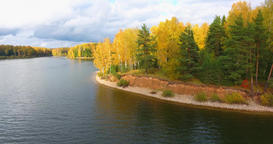 Golden Autumn. Forest And River. 2