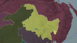 Heilongjiang - province of China. Administrative Animation