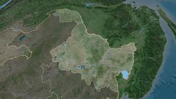 Heilongjiang - province of China. Satellite Animation