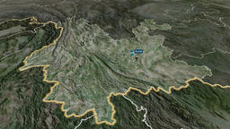 Yunnan - province of China. Satellite Animation