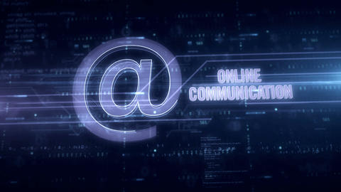 Online communication blue hologram Animation
