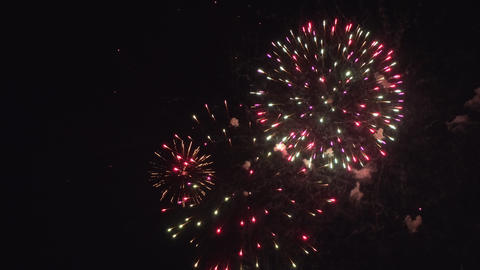 Colorful firework display for celebration Footage