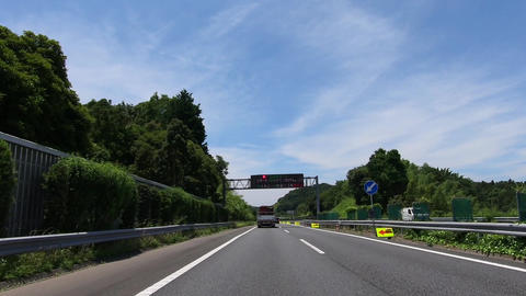 Sunny day highway, driving video Footage