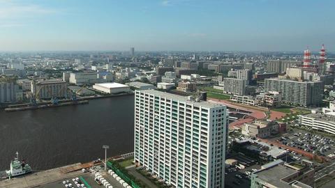 Urban landscape. Building near the port Footage