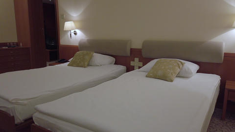 Comfort hotel twin bed room Footage