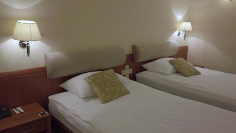 Comfort hotel twin bed room Footage