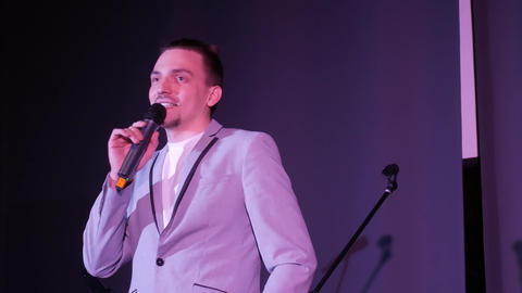 Showman speaks at the event Footage