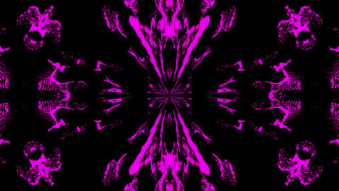 Beautiful abstract symmetry kaleidoscope, 3d rendering backdrop, computer Footage
