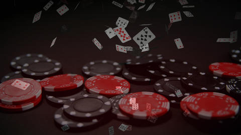 Chips falling down on table Animation