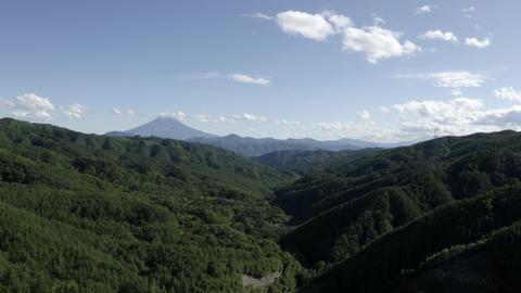 View Of Mount Fuji And Lake Hirose To-Ge From Lake Hirose On A Noon Of May Footage