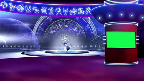 Astrology 01 - Virtual Green Screen Background Loop Footage