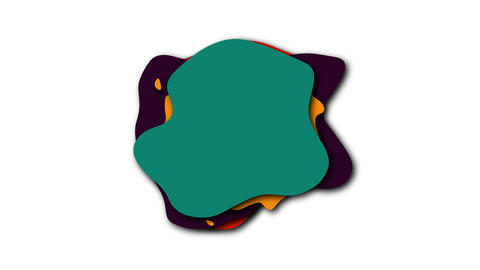 Liquid isolated shapes of colored liquid in cartoon style, 3d render computer Live Action