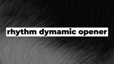 Rhythm Dynamic Opener After Effects Template