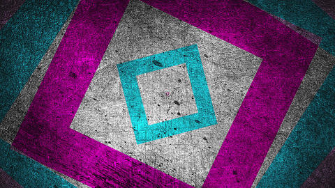 Modern grunge abstract background with rectangles, scratched surface, 3d render Footage