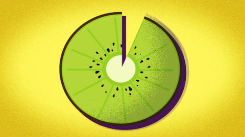 animated pattern of a kiwi ideal to represent the summer, summer fruit Footage