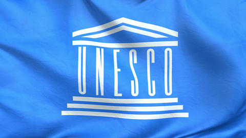FLAG-UNESCO-loop full screen Animation