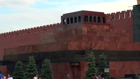 Lenin's Mausoleum. Red Square, Moscow Footage
