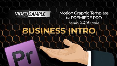 Business Intro モーショングラフィックステンプレート