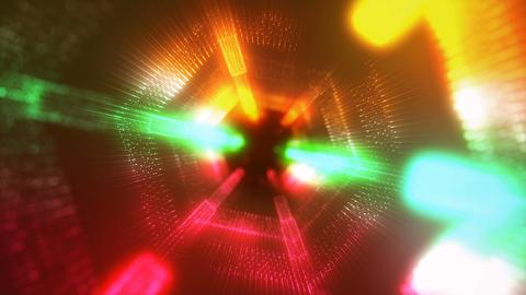 Hexagon form green-orange Animation