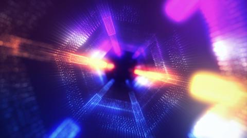 Hexagon form purple-orange-blue Animation