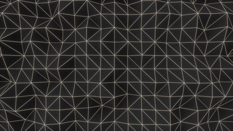 0936 Dark low poly displaced surface with white glowing lines Footage