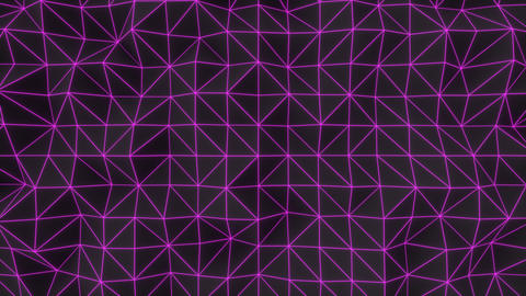 0946 Dark low poly displaced surface with purple glowing lines Footage